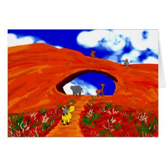 Cartão asnos em Moab, Utá