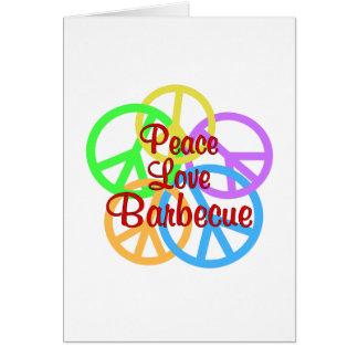 Cartão Assado do amor da paz