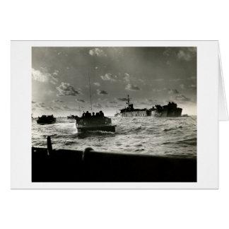 Cartão Assalto Iwo Jima dos fuzileiros navais de WWII