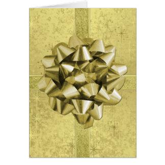 Cartão Assemelha-se a um presente de Natal da folha de