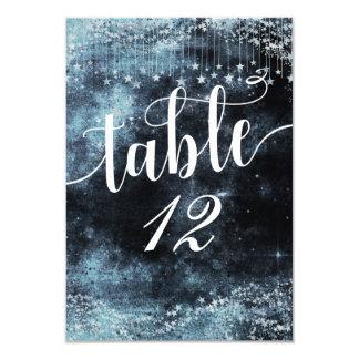 Cartão Assento do número da mesa de noite estrelado da