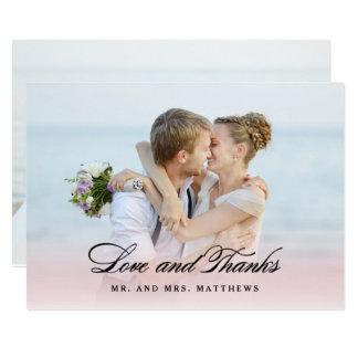 Cartão Assim no obrigado Wedding do amor | você foto