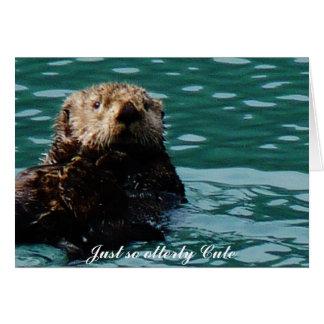 Cartão Assim notecard bonito da lontra de mar de Otterly