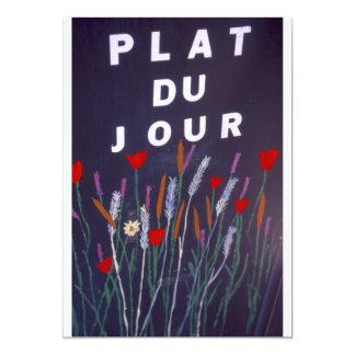 Cartão Assine dentro francês para a comida
