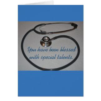 Cartão assistente da graduação do médico do