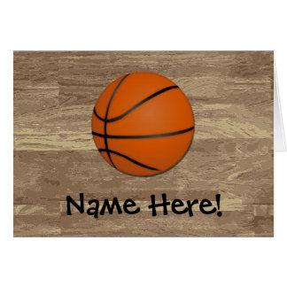 Cartão Assoalho personalizado da madeira do basquetebol