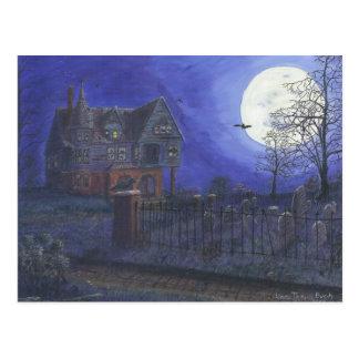 Cartão assombrado da casa