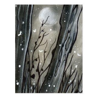 Cartão assombrado do Dia das Bruxas da lua da