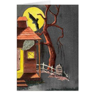 Cartão assombrado lápide da casa do bastão do Dia