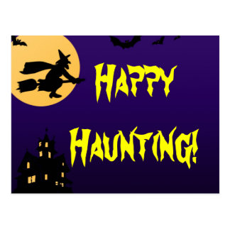 Cartão assombrado o Dia das Bruxas de assombro