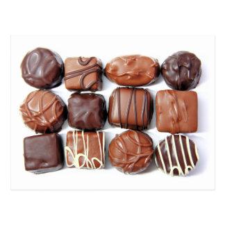 Cartão Assorted dos chocolates