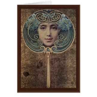 Cartão Assuntos em um fundo dourado por Hawkins Louis W