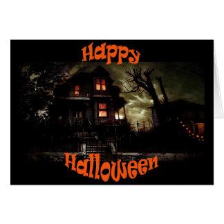 cartão assustador de house3 o Dia das Bruxas