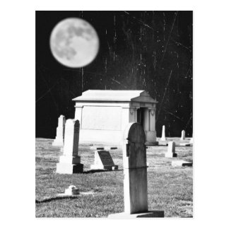 Cartão assustador do cemitério