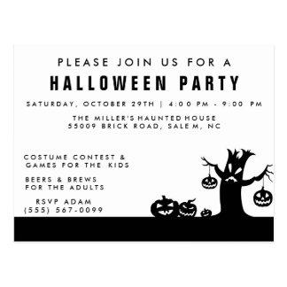 Cartão assustador do convite de festas do Dia das