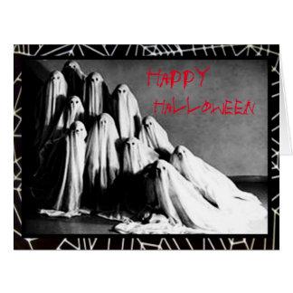 Cartão assustador do horror do Dia das Bruxas dos