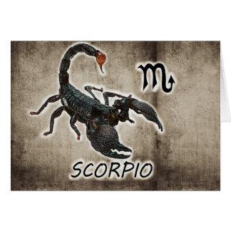 Cartão astrologia 2017 do scorpio