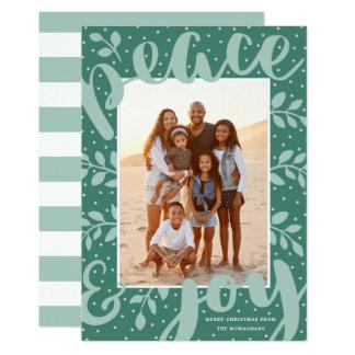 Cartão astuto do feriado da foto da paz e da