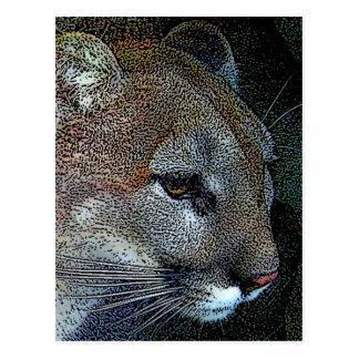Cartão astuto do puma da natureza