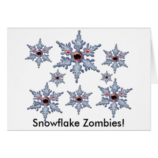 Cartão Ataque dos zombis do floco de neve!