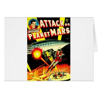 Cartão Ataque no planeta Marte
