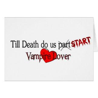 Cartão Até que a morte nos fizer começo