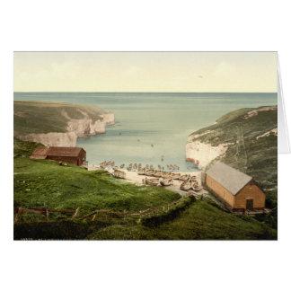 Cartão Aterragem do Mar do Norte, Flamborough, Yorkshire,