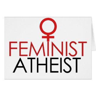 Cartão Ateu feminista