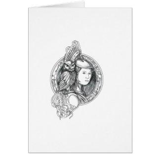 Cartão Athena com a coruja no Cir do circuito eletrônico