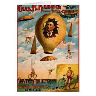 Cartão Ato 1896 do pára-quedas da bicicleta