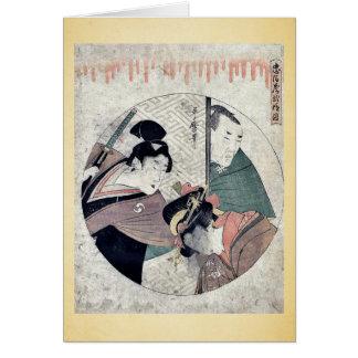 Cartão Ato dois do Chushingura por Kitagawa, Utamaro