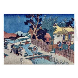 Cartão Ato seis de Kanadehon Chushingura por Utagawa,