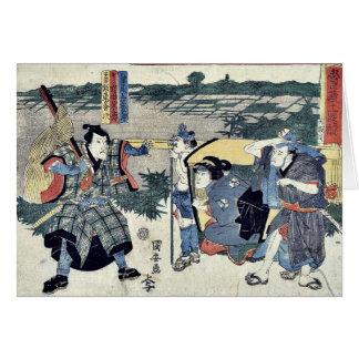 Cartão Ato seis do Chushingura por Utagawa, Kuniyasu
