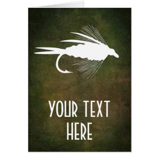 Cartão Atração da pesca com mosca a personalizar