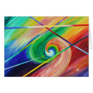 Cartão Atração oposta - arte abstracta