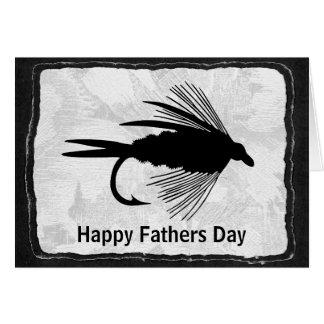 Cartão Atração preta da pesca com mosca