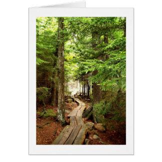 Cartão Através das madeiras