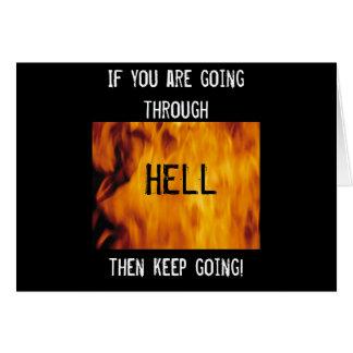 Cartão Atravessar o inferno