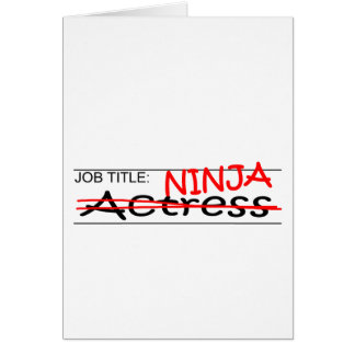 Cartão Atriz de Ninja da posição