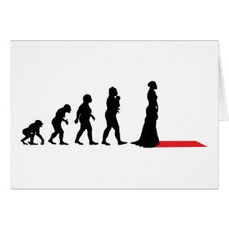 Cartão Atriz no tapete vermelho