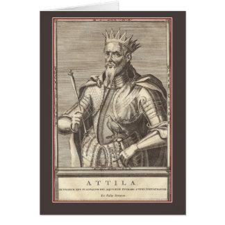 Cartão Attila, rei dos hunos, flagelo do deus