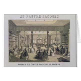 Cartão Au Pauvre Jacques: O departamento do tecido