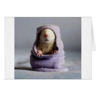 Cartão auge bonito do rato uma vaia