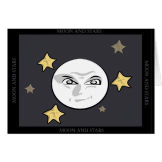 Cartão Aumentação má da lua e das estrelas
