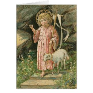 Cartão aumentado religioso do senhor páscoa do