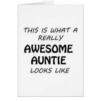 Cartão Auntie impressionante