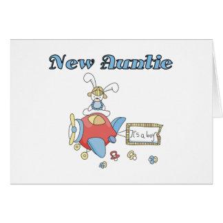 Cartão Auntie novo do bebé