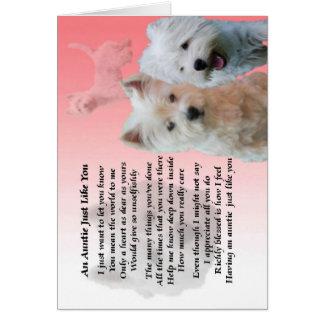 Cartão Auntie Poema - Westie