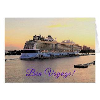 Cartão Aurora do porto de Nassau com costume do navio de
