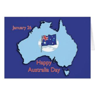 Cartão Austrália dia o 26 de janeiro